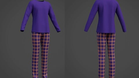 Male casual outfit - 3D Pyjamas