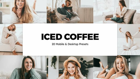 20 Iced Coffee LUTs and Lightroom Presets