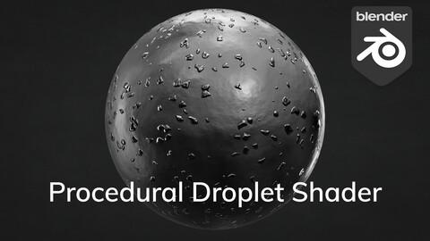 Procedural Droplet Shader