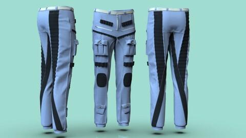Pants 3d model CLO 3d