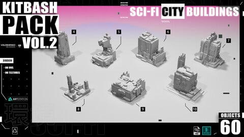 SCI-FI BUILDINGS CITY KIT V.2