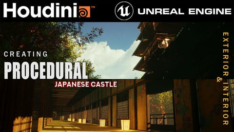 Houdini Tutorial Procedural Japanese Castle in Unreal Engine 4