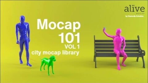 MOCAP 101 - STREET LIBRARY - UE4.26 - MOTION CAPTURE LIBRARY