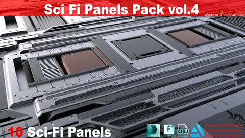 Sci-Fi Panels Pack vol 04