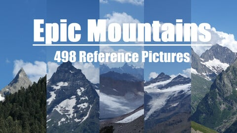 Epic Mountains 498 Photo Reference Pictures