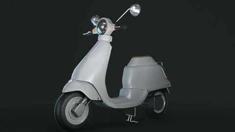 Scooter Game-ready 3D model