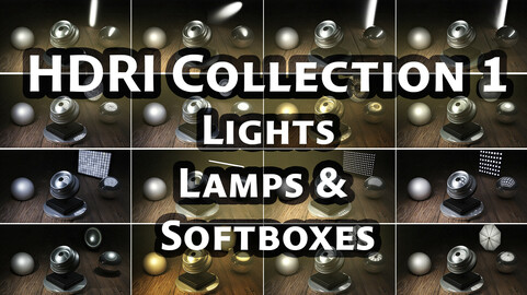 HDRI Collection 1 - 23 Studio Lights, Lamps and Softboxes