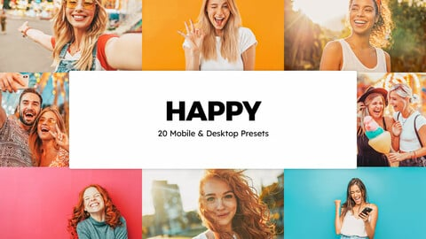 20 Happy LUTs and Lightroom Presets