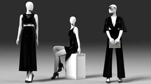 Mannequin woman shop female dresses clothing