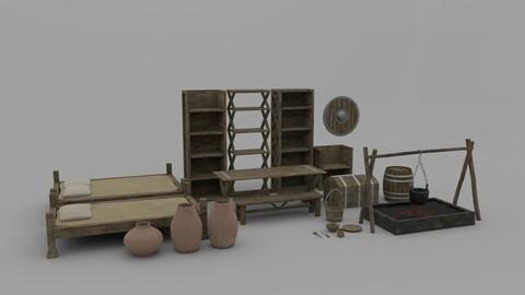 Medieval Room Furniture