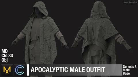 Apocalyptic male outfit / Marvelous Designer / Clo 3D project + obj