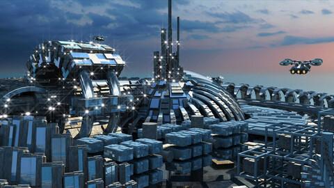 Futuristic City 7. (HD)