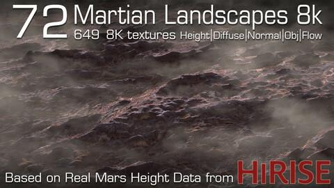 72 Martian Landscapes 8k