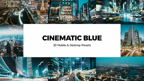 20 Cinematic Blue LUTs and Lightroom Presets