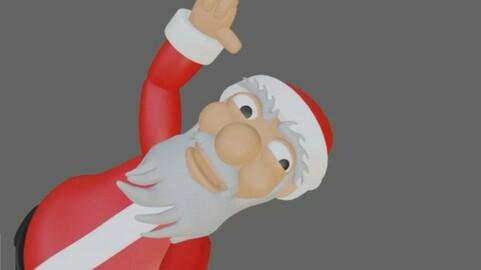 Santa Claus Rigged - Papai Noel 3D model