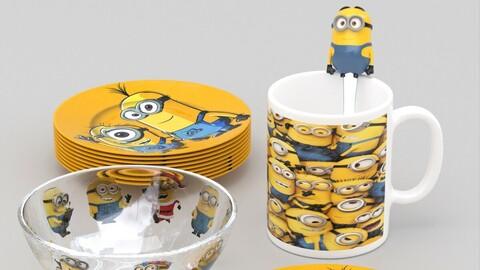 Minions kids tableware set