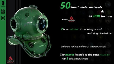 50 metal smart materials + 4k pbr texture