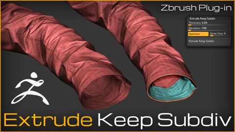 Extrude Keep Subdiv | ZBrush Plugin