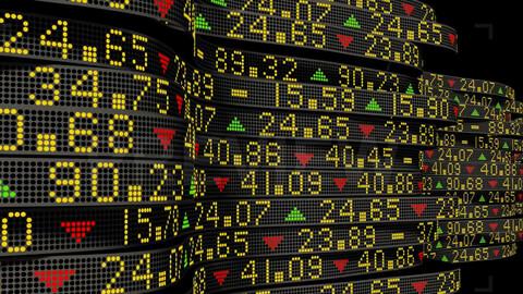 Stock Market Tickers 1. (4K)