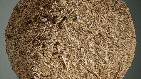 PBR DEAD GRASS 01 4K  MATERIAL