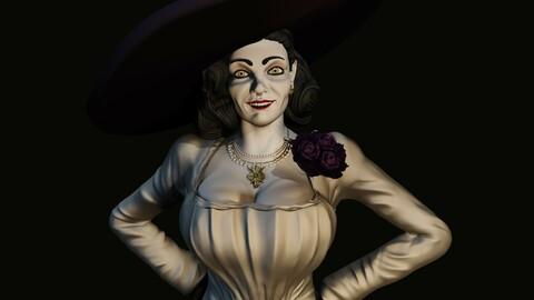 Lady Dumitrescu 3D print model