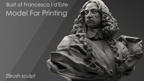 Bust of Francesco I d'Este|Model For Printing