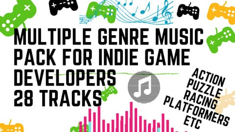 MULTIPLE GENRE  MUSIC PACK  FOR INDIE GAME DEVELOPERS  ( Time Limited -50% off  )