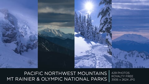 PACIFIC NORTHWEST SNOWY MOUNTAINS | PHOTOPACK