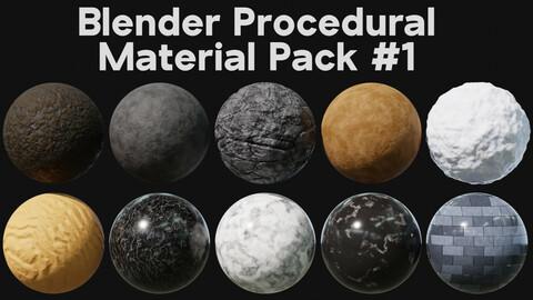 Blender Procedural Material Pack #1