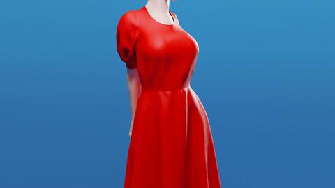Modern Red Dress