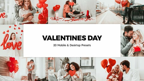20 Valentines Day LUTs and Lightroom Presets