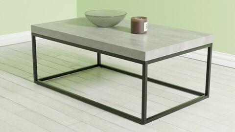 Coffee Table Concrete with Black DELANO