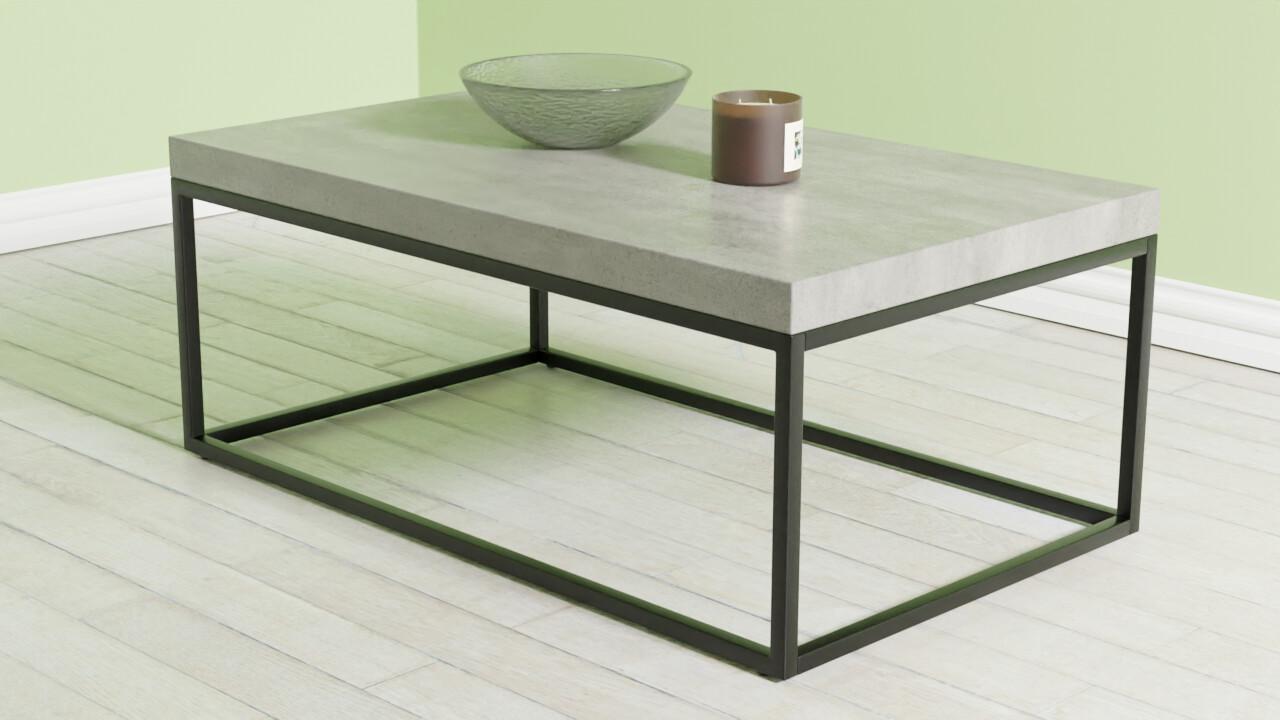 Artstation Coffee Table Concrete With Black Delano Resources