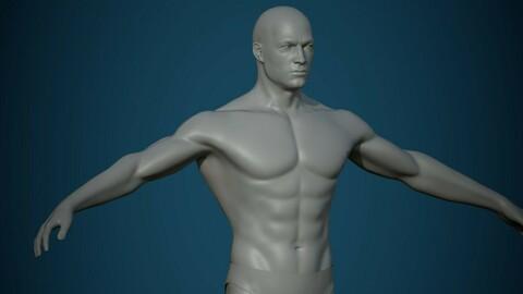 Base mesh male body