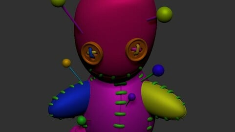 Voodoo doll .obj model with pollygroups