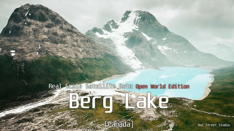 Berg Lake - Real Scale Satellite Data (UE4 Open World)