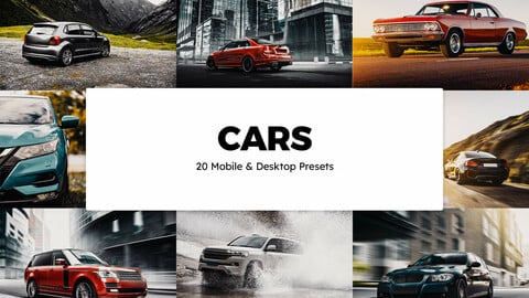 20 Cars LUTs and Lightroom Presets