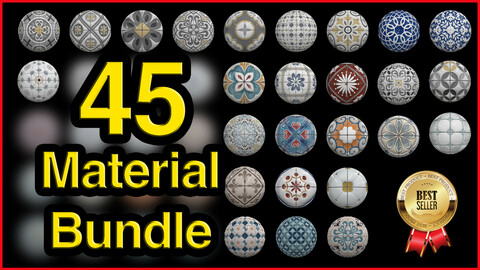 45 High Quality Tile Material Bundle