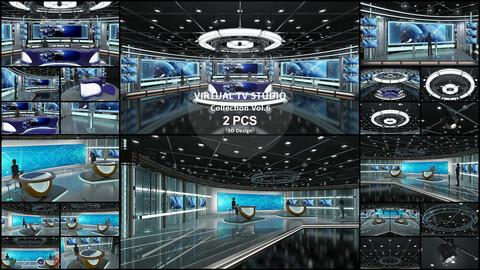 Virtual TV Studio Collection Vol 6 - 2 PCS DESIGN