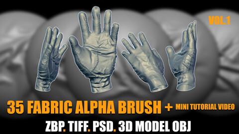 35 fabric alpha brush vol.1