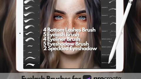 +20 Eyelash Brushset for Procreate