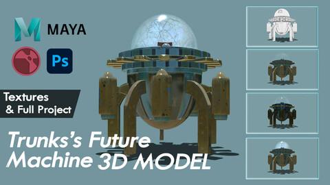 DBZ Trunks's Future Machine 3D Model