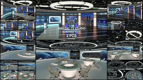 Virtual TV Studio Collection Vol 5 - 2 PCS DESIGN