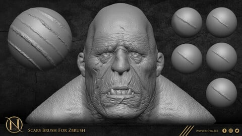 Scars Brush For Zbrush