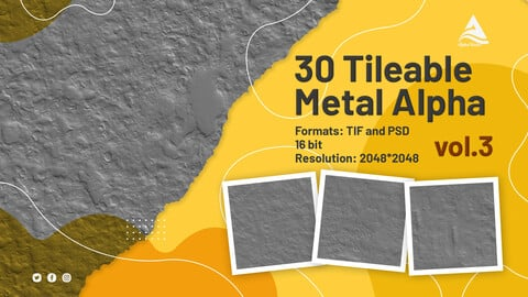 30 Tileable Metal Alpha (vol.3)