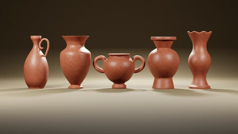 Clay jug of 5 piece set Part 1