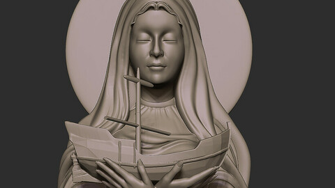 virgin stella maris .. patron saint of fishermen STL