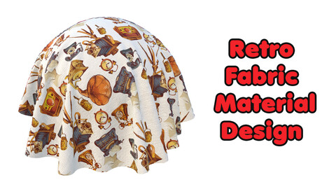 Retro Fabric Material Design / Sbsar / Substance Painter