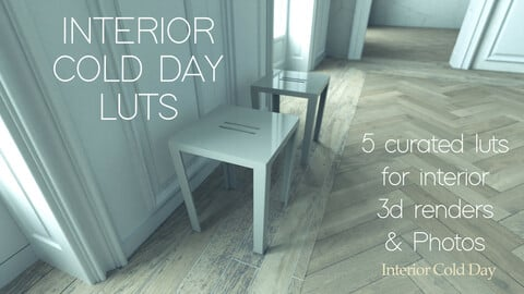 Interior Cold Day - Curated 3D Luts