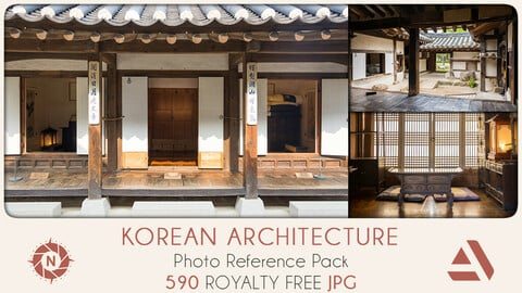 Photo Reference Pack: Korean Architecture